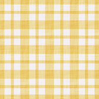 Coordinated Cottons - White on Yellow Plaid
