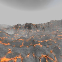 Lava with mist Skybox