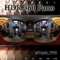 HDR 360 Pano Church Interior