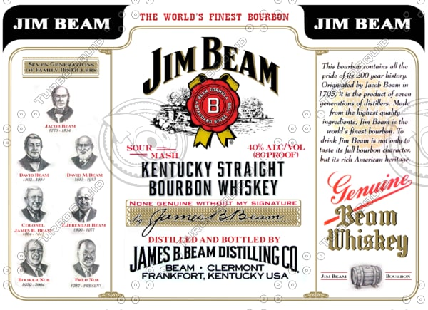 Texture Other Jim Beam Whiskey