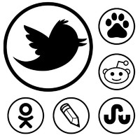 Social bookmarking simple iconset
