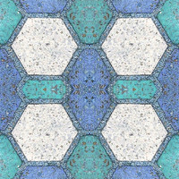 Blue and white block tile texture 3