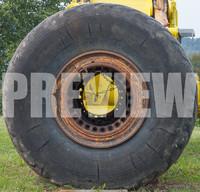 old truck wheel & tire texture 1