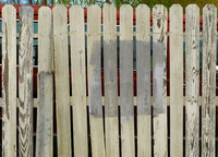 4 White Wooden Fence