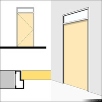 Door Swing Single Transom Metal 01492se