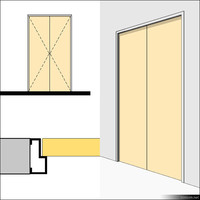 Door Swing Double Metal 01493se