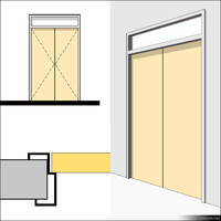 Door Swing Double Transom Metal 01500se