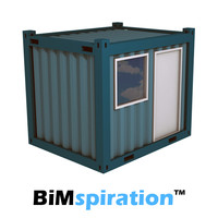 Office Container 10ft Revit family