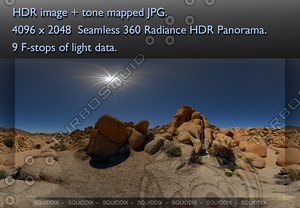 ROCKS AT JOSHUA TREE 360 HDR PANORAMA #  075