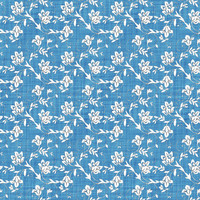 Coordinated Cottons White on Blue Floral