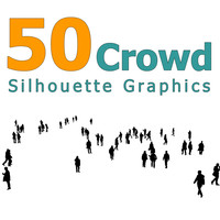 50 Crowd Silhouettes