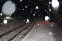 snowing in night