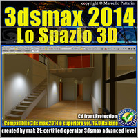3ds max 2014 Lo Spazio 3D v.16 Italiano cd front