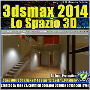 3ds max 2014 Lo Spazio 3D v.16 Italiano cd front