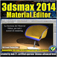 3ds max 2014 Material Editor v.17 Italiano cd front