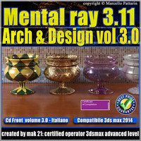 Mental Ray 3.11 3dsmax 2014 Vol.3 Arch e Design_cd front