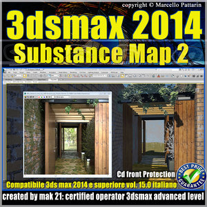 3ds max 2014 Substance Map v.15 Italiano cd front