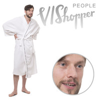 Man in bathrobe
