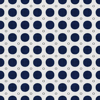 Coordinated Cottons - Navy on White Modern Dots