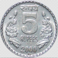5 Rupees Coin Texture map