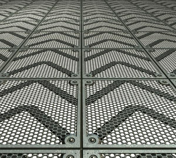 Texture other metal floor tile for Aluminum flooring