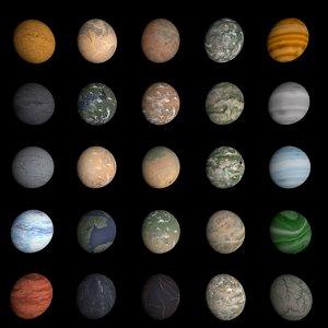 Planet textures set