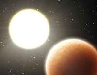 Hot planet near the star