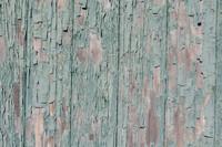 Peeled wooden door