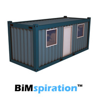Office Container 20ft Revit family