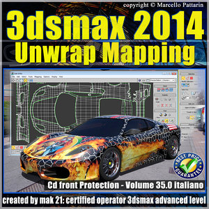 3ds max 2014 Unwrap Mapping vol 35 Italiano cd front