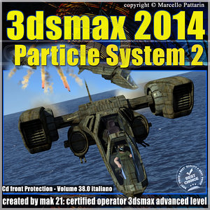 3ds max 2014 Particle System 2 volume 38 Italiano cd front