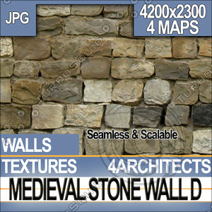 Medieval Stone Wall D