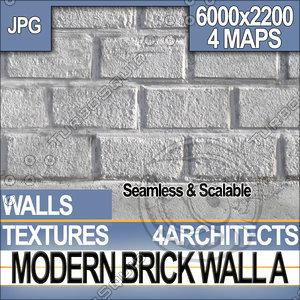Modern Brick Wall A