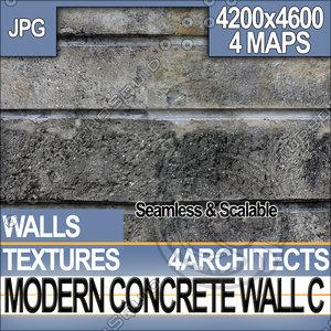 Modern Concrete Wall C