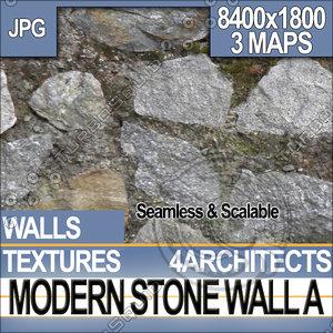 Modern Stone Wall A