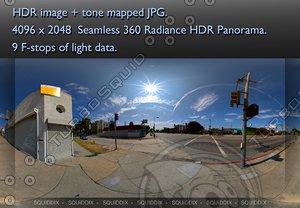 DAYTIME LOS ANGELES STREET HDR PANORAMA # 320