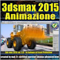 Video Corso 3ds max 2015 Animazione. volume 5.0 Italiano_cd front