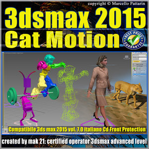Video Corso 3ds max 2015 Cat Motion. volume 7.0 Italiano cd front