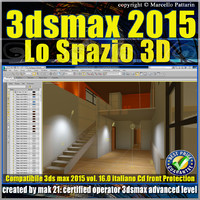 3ds max 2015 Lo Spazio 3D volume 16.0 Italiano_cd front