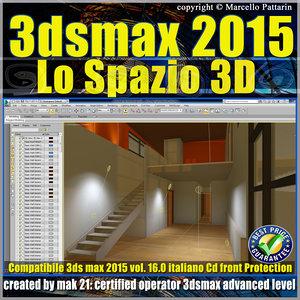 3ds max 2015 Lo Spazio 3D volume 16.0 Italiano_cd front