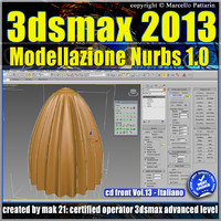 3ds max 2013 Modellazione Nurbs vol13 cd front