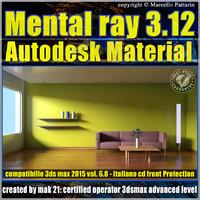 Mental ray 3.12 in 3dsmax 2015 Vol.6 Autodesk Material