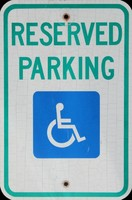 Parking Sign Texture