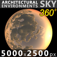 Sky 360 Sunset 027 5000x2500