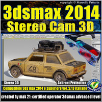 3ds max 2014 Stereo Cam 3D v.27 Italiano cd front