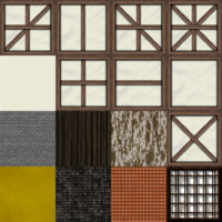 Low Poly Tudor House Texture