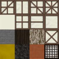 Low Poly Tudor House Texture