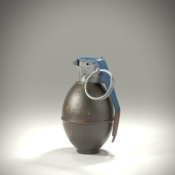 3d grenade simulations model