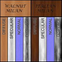 Walnut Milan and Italian Wood