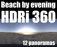 360 hdri beach by night pack